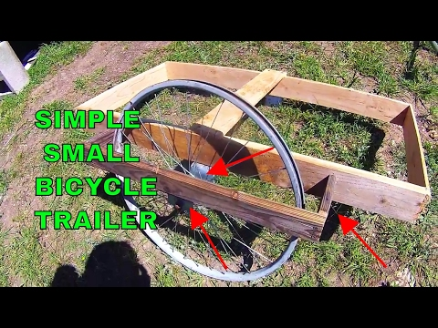 Simple Wooden Bicycle trailer build Vlog # 012 (My basic design i use)