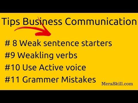 Business Communication | Weak sentence starters| WEAKLING VERBS |Active Voice | Grammar Mistakes