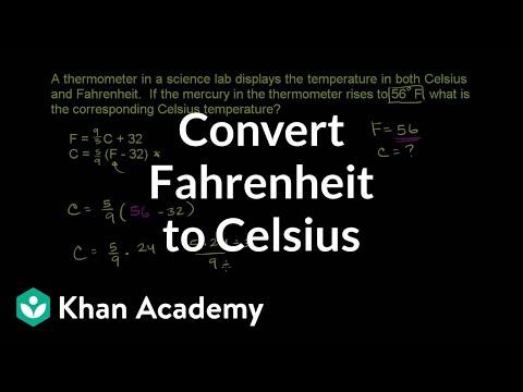 Converting Fahrenheit to Celsius | Pre-Algebra | Khan Academy