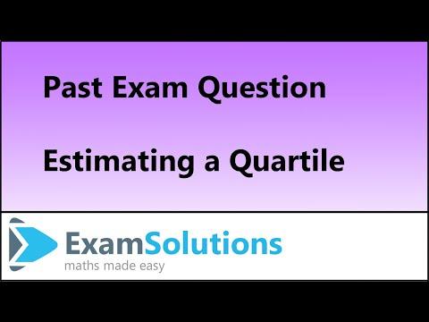 Linear Interpolation to find a Quartile : S1 Edexcel June 2013 Q4(c)(d) : ExamSolutions Maths
