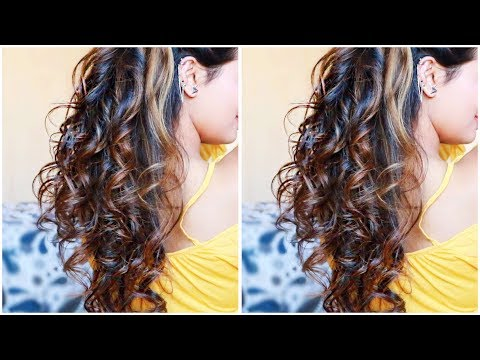 Easy HEATLESS Curls I Using DIY Hair Donut I 5 Minute NO Heat Sock Curls I Easiest Overnight Curls