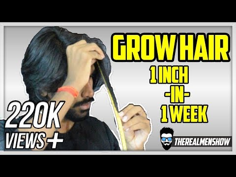 GROW YOUR HAIR 1 INCH IN 1 WEEK★ Indian Hair growth Secret★TheRealMenShow★