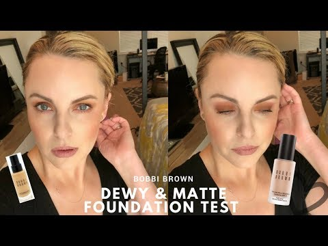 NEW Bobbi Brown Dewy & Matte Foundation Test - Elle Leary Artistry