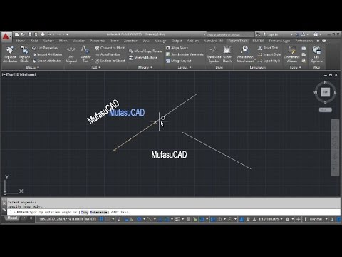 AutoCAD Align Text To Line With Rotate