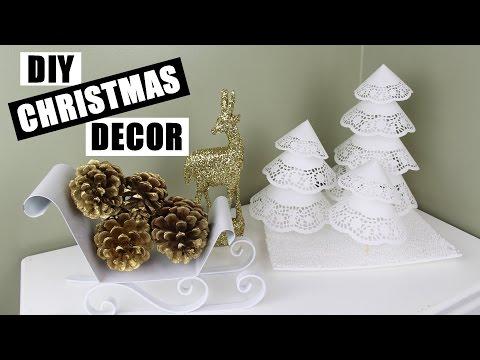 DIY Christmas Decor Ideas | How To Make Paper Doily Xmas Trees | Easy & Cute Christmas Craft Ideas