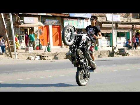 Best bike stunts | Bike stunts on the road | Just spotted them
