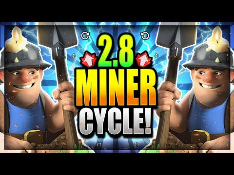 UNSTOPPABLE 2.8 MINER CYCLE DECK!! TOO FAST!! Clash Royale Miner Valkyrie Deck