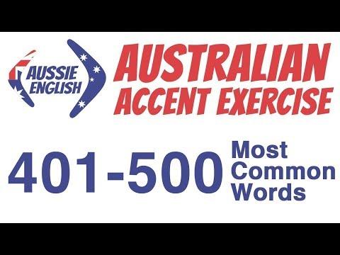 401-500 Most Common Words | Australian Accent Pronunciation Exercise
