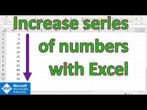 Excel - Increase Series of Number