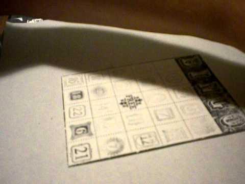 Stampin Up Bingo Card
