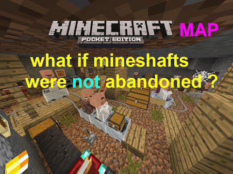 MCPE 0.16.1 - WHAT IF MINESHAFTS WERE NOT ABANDONED ? MAP PART 1   MINECRAFT PE