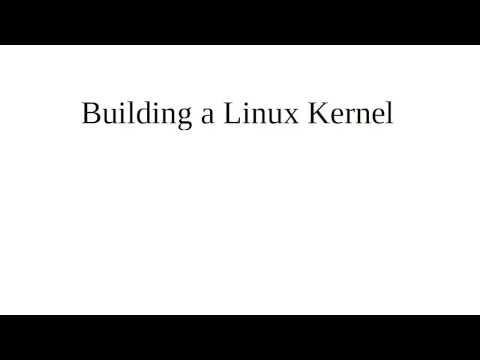 Building a Linux Kernel