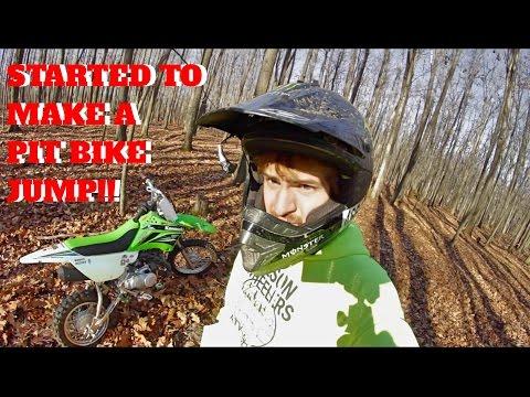 BUILDING JUMPS & WOODS PIT BIKE RIDING  - Vlog #53