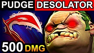PUDGE DESOLATOR - DOTA 2 PATCH 7.06 NEW META PRO GAMEPLAY
