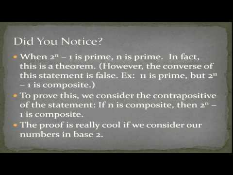 Mersenne Primes and Perfect Numbers: A Love Story by Dan Garbowitz