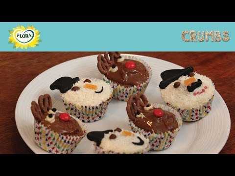 Snowmen and Reindeer Cupcakes from Flora and Crumbs