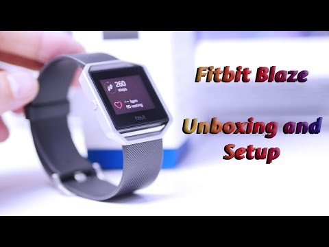 Fitbit Blaze Unboxing and Setup
