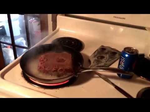 Deer Burger cooked in Pepsi Delicious