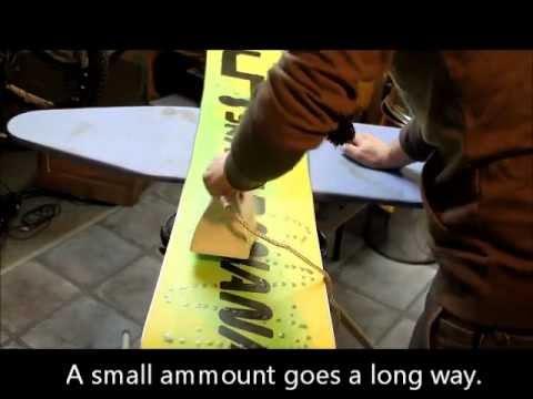 Snowboard Waxing - Super Cheap Method - HD