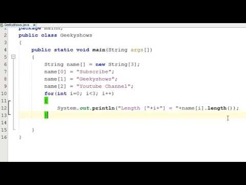 245. How to find String one D Array Length in Java Programming (Hindi)