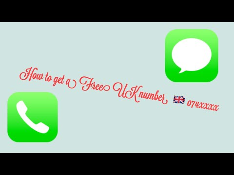 How to get a free UK phone number! (Very Easy)