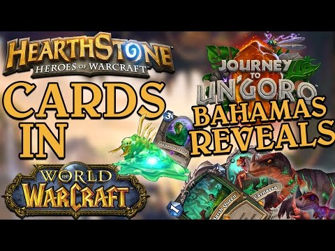 Hearthstone Cards in WoW // Journey to Un'Goro // Bahamas Cards (Hunter Quest, Oozes + more!)
