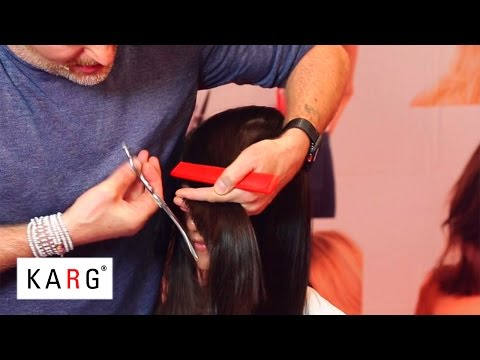 How to cut long layers with face framing long bangs by KARG