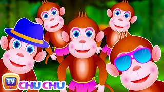 Five Little Monkeys Jumping On The Bed | Part 3 - The Smart Monkeys | ChuChu TV Kids Songs