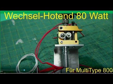 Wechsel-Hotend 80 Watt für 3D Drucker
