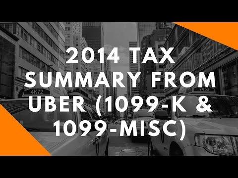 2014 Tax Summary From Uber (1099-K & 1099-Misc)