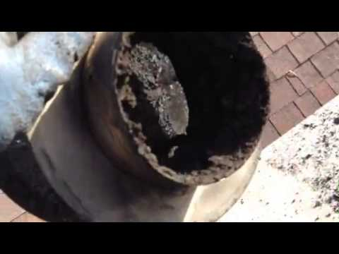 Dirty wood stove chimney