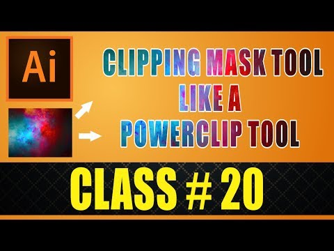 Clipping Mask Tool - Like (Powerclip) tool in Adobe illustrator CC 2017 Experiment Course Part# 20