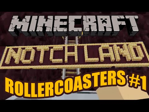 Minecraft Notch Land The Airstream And Notch's Secret Rollercoaster