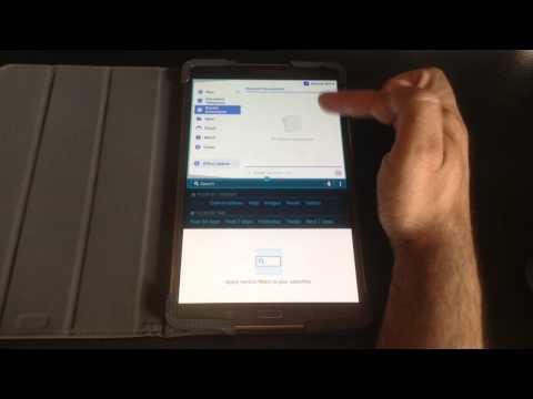 Samsung Galaxy Tab S 8.4 & 10.5 Tip: Multiple Windows using the Multi Window menu