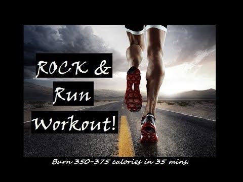 Rock & Run Workout! (Burn 350 - 375 calories At Home!)