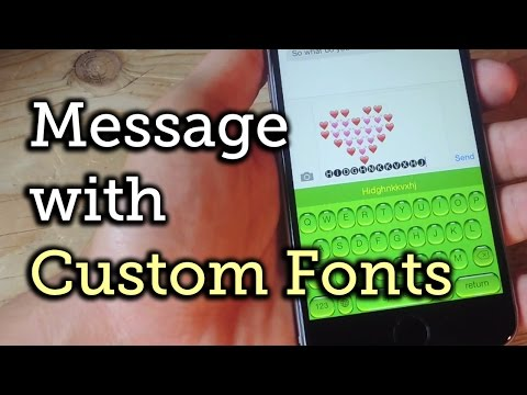 Custom Fonts for Text Messaging on iOS 8 [How-To]