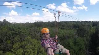 Mexico Zip-Line GoPro Jungle Maya