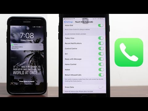 How to Protect Missed Calls from iPhone Lock Screen in iOS 11