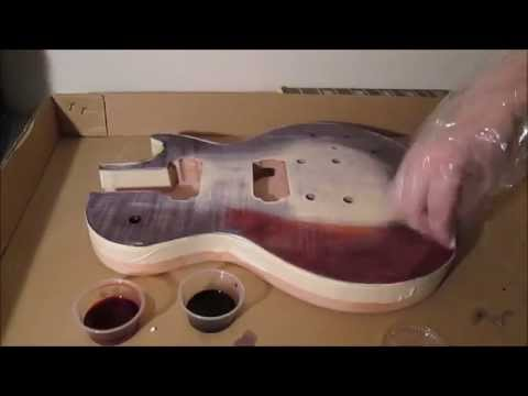 Max Builds A Guitar - Part 2(staining the body)