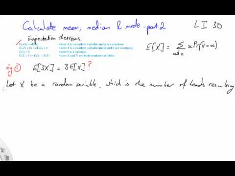 30 Calculate mean, median and mode part 2