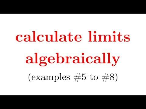 evaluate limits algebraically (w/ worksheet in description, part2), calculus 1, pre calc