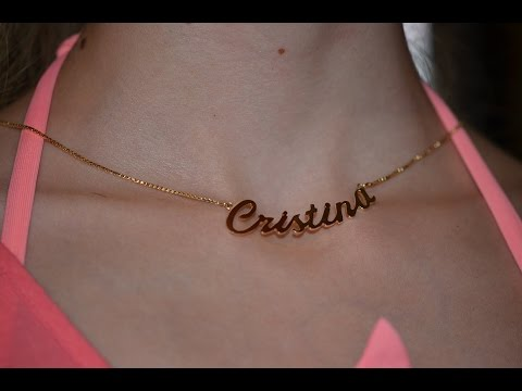 Gold chain with your name Easy to make handmade.