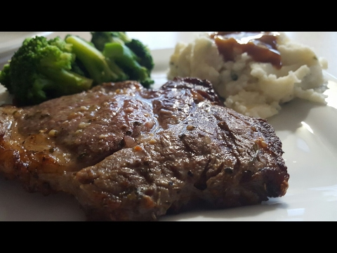 Air Fryer RibEye Steak Cooks Essentials 5.3qt Airfryer Digital perfect cooker Stove & Brick