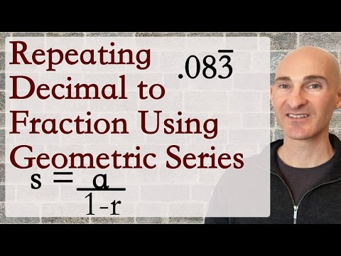 Repeating Decimal to Fraction Using Geometric Series(Challenging)