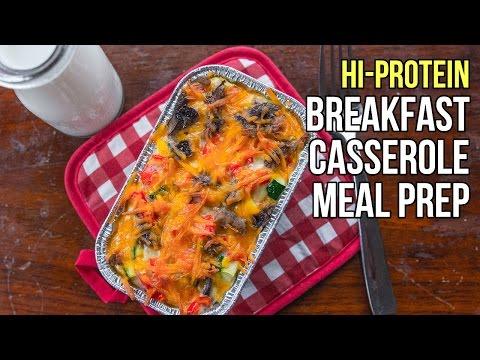 Healthy Hi-Protein Breakfast Casserole / Cazuela de Desayuno