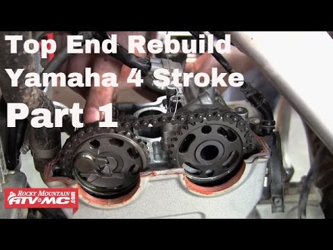 Motorcycle Top End Rebuild on Yamaha Four Stroke (Part 1 of 2)