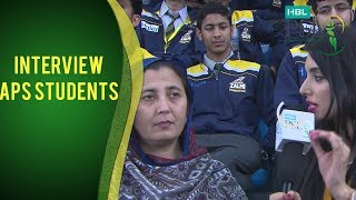 HBL PSL Moments - Interview with APS Principal I