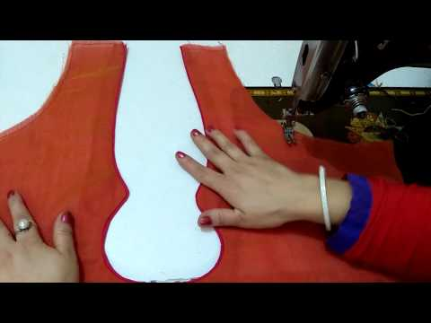 Back neck design with invisible piping