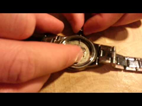 disassembly of a stem and crown from a watch