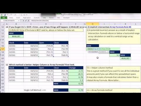 Ctrl + Shift + Enter: Excel Array Formulas #02: Introduction Array Formulas & Math Array Operation